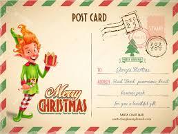 christmas postcard christmas postcard template stock vector mollicart 128104558