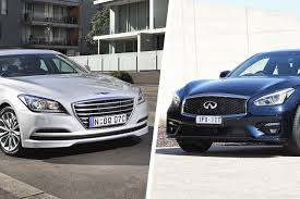 hyundai genesis hyundai genesis vs infiniti q70 comparison review