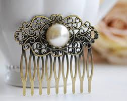 antique hair combs antique hair comb etsy