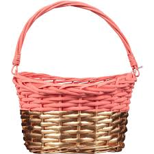 basket easter coral gold willow easter basket walmart