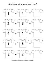 first addition worksheets
