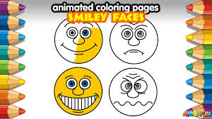 how to draw emoji smileys emoticons coloring pages for children