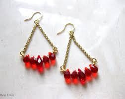 Red Chandelier Earrings Red Bridal Earrings Etsy