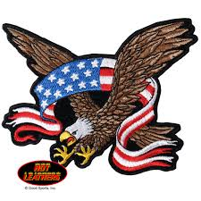 2nd Amendment Flag Leathers American Flag Banner Eagle Patch