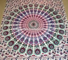 Floral Prints by Traditional Multi Color Floral Print Mandala Bed Sheet Ethnic
