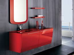 modern red bathroom furniture home decorating ideas home