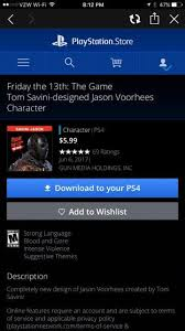 playstation store black friday 2017 friday the 13th the game u0027kickstarter backer only u0027 tom savini