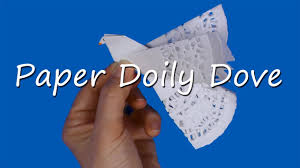 paper doily peace dove craft youtube