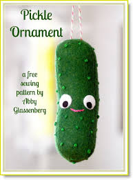 free pattern pickle ornament felting