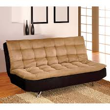 shop furniture of america mancora camel black microfiber futon at