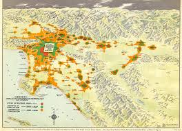 Map Of La County Citydig This 1929 Map Tracks L A U0027s Population Boom At The Turn