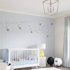 Boy Nursery Curtains Pale Blue Striped Nursery Curtains Design Ideas