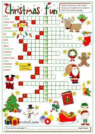 christmas fun crossword englannin opetus pinterest
