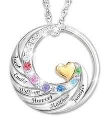 name and birthstone necklace birthstone and diamond necklace with names silver or gold