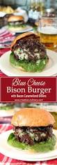 ted montana grill thanksgiving blue cheese bison burger with bacon caramelized onions creative