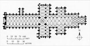 salisbury cathedral floor plan transverse section of the nave of