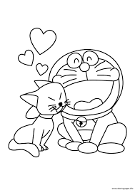 cat and doraemon cartoon s18bf8 coloring pages printable