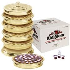 communion sets tray sets brasstone with prefilled communion cups