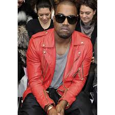 motorcycle biker jacket kanye west biker jacket red leather motorcycle jacket for mens