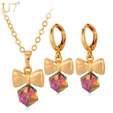 stone necklace sets images Buy u7 crystal jewelry set 7 colors fancy stone jpg