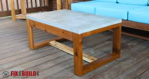 Plans For Building A Wooden Patio Table by Diy Concrete Top Outdoor Coffee Table Fixthisbuildthat