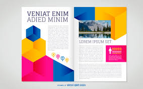 brochure template flat brochure template vector
