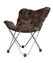 Butterfly Chairs Outdoor Amazon Com Urban Shop Mongolian Faux Fur Butterfly Chair Brown