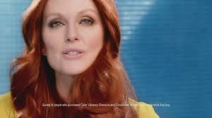 julie ann moore s hair color l oreal color vibrancy tv commercial featuring julianne moore