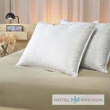 hotel madison luxury suite 400 thread count down pillows set of 2