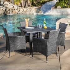 cliff outdoor 5 piece wicker dining set by christopher knight home