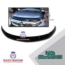 All New Pajero Sport List Kap Mobil Depan Molding Chrome deflekta kap mesin all new pajero sport 2016 thailand spoiler