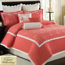 Beautiful Comforters Bedroom Fascinating Comforter Coral Bedding On Dark Brown Wood