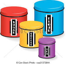 colorful kitchen canisters eps vector of kitchen canister set of four multi color