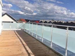 glas balkon balkongeländer glas aluminium balkon geländer vsg glas in