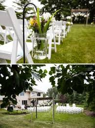 wedding arches calgary backyard wedding ceremony set up diy details and white wooden