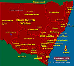 map of new south wales nsw regions map australia tourist information