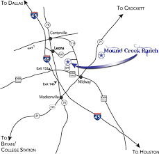 Map Of Conroe Texas Mound Creek Ranch Brangus Cattle In Conroe Texas