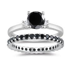 black engagement ring set best 25 black wedding sets ideas on black