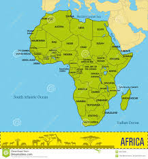 Political Map Africa by Map Of Africa With All Countries And Their Capitals Stock Vector