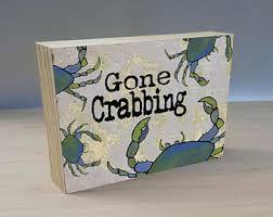 Crab Decorations For Home Coastal Crab Etsy
