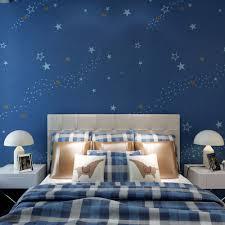 Schlafzimmer Tapete Blau Sternenklare Nacht Kinder Schlafzimmer Tapete Dunkelblau Vlies