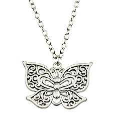long butterfly necklace images Long butterfly pendant necklace butterfly house jpg
