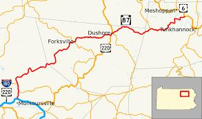 Google Maps Pennsylvania by Pennsylvania Route 87 Wikipedia