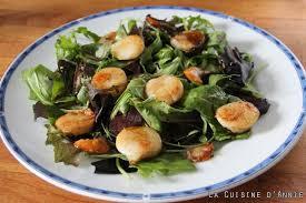cuisiner les st jacques coquilles st jacques scallops gratinéed salad recipe la cuisine