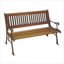 Garden Bench Hardwood Metal Garden Benches For Sale Foter