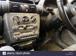 Tigra Interior A Very Dirty Car Interior And Dashboard Stock Photo Royalty Free