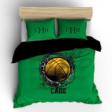 basketball splash monogram bedding set duvet or comforter