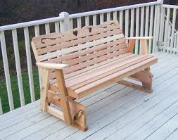 Glider Porch Red Cedar American Sweetheart Glider