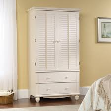 amazon com sauder 158036 antiqued white finish harbor view amazon com sauder 158036 antiqued white finish harbor view armoire kitchen dining