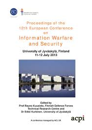 proceedings of the 12th european conference on information warfare
